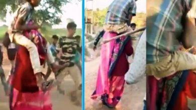 Photo of मप्र: गर्भवती महिला से बदसलूकी, कंधे पर लड़के को बैठाकर घुमाया; ये थी वजह