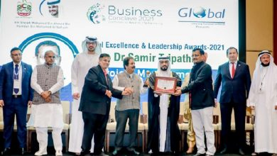 Photo of दुबई में ग्लोबल एक्सीलेंस एंड लीडरशिप अवार्ड से सम्मानित हुए डॉ.समीर त्रिपाठी
