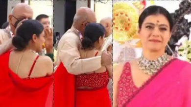 Photo of दुर्गा पंडाल में अपने इस करीबी को देख रोने लगीं काजोल, वीडियो हुआ वायरल